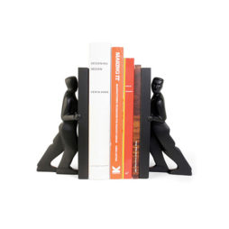 Pushing Men Bookends Set