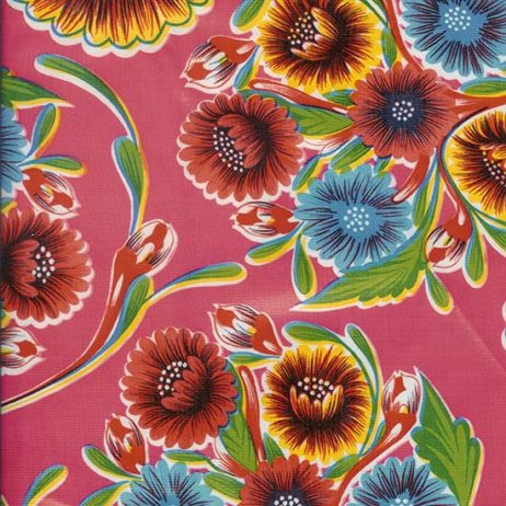 Bloom Pink Print Oil Cloth