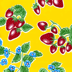 Strawberry Yellow Oil Cloth