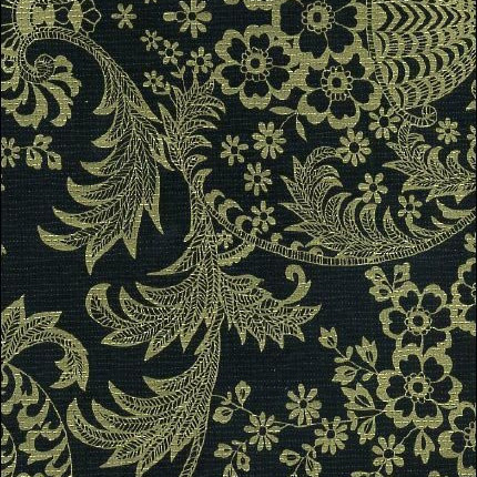 Paradise Lace Black/Gold Lace Print Oil Cloth