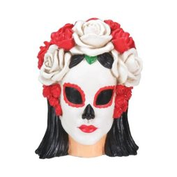 Day Of The Dead Black And White Woman Head