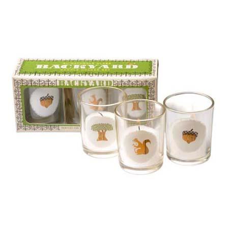Backyard Votive Candle Holder Set
