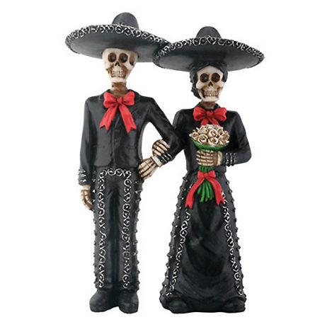 Day Of The Dead Mariachi Couple Figurine