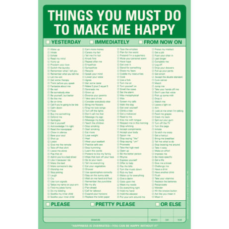 Things You Must Do To Make Me Happy Notepad