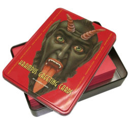 Krampus Greeting Cards In Tin Box