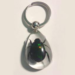Radiant Beetle Keychain