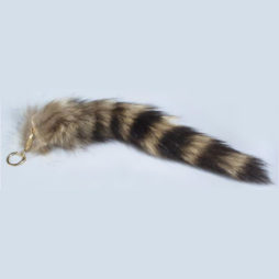 Raccoon Tail Keychain