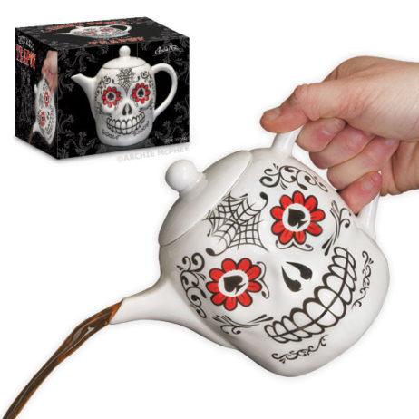 Lucky Skull Porcelain Teapot