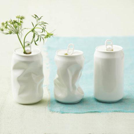 Porcelain Soda Can Vase