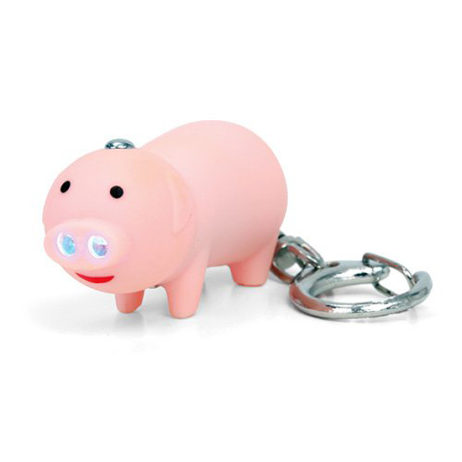 Oinking Pig Keychain / Flashlight