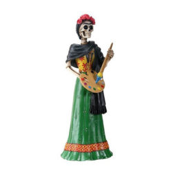 Day Of The Dead Frida Painting Skeleton