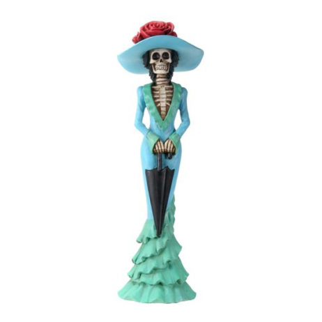Day Of The Dead Parasol Lady