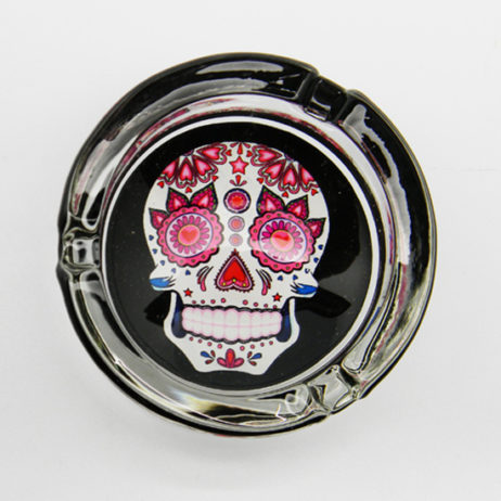 Day Of The Dead Glass Ashtray