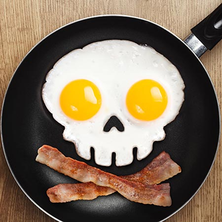 Funny Side Up: Skull Egg Corral