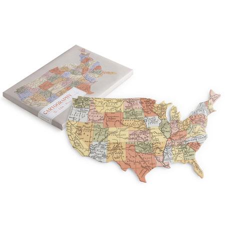 United States Map Porcelain Tray