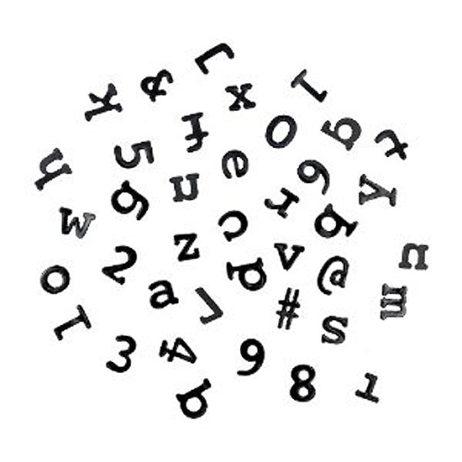Magnetic Fridge Typewriter Fonts