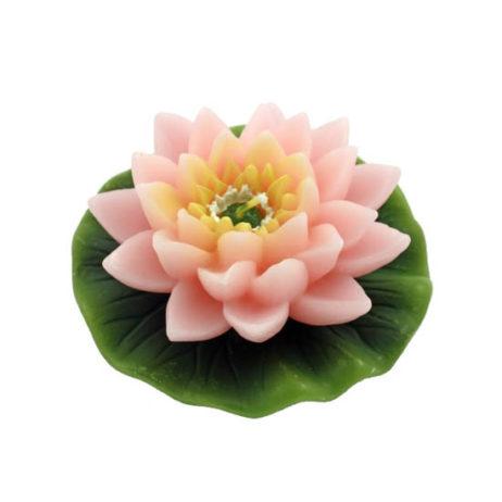 Pink Lotus Flower Candle