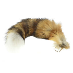 Red Fox Tail W/Keychain