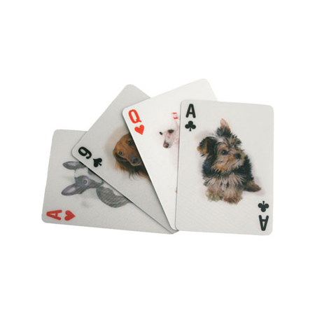 Dog 3-D Playin Cards