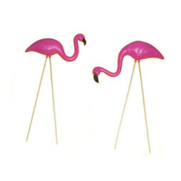 Mini Flamingo Yard Ornaments (Set Of 2)