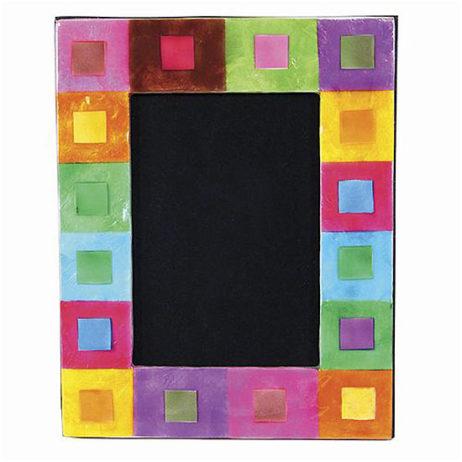 Capiz Confetti-Color Squares Frame