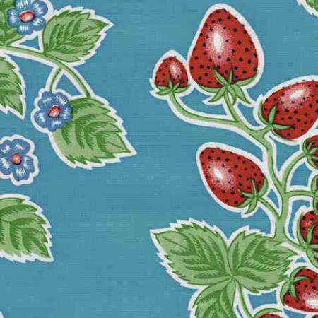Strawberry Blue Oil Cloth