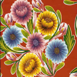 Bloom Red Print Oil Cloth