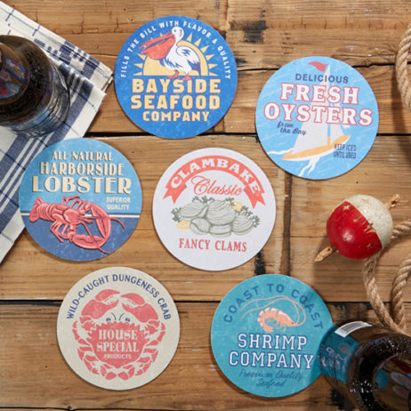 Seafood Shack Paper Coasters