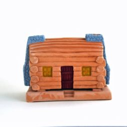 Log Cabin With Pinon Natural Wood Incense Set