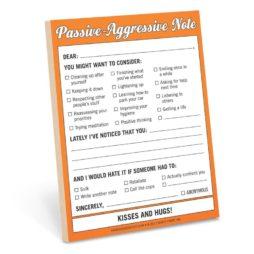 Passive Aggressive Nifty Notes