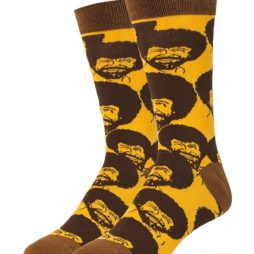 Bob Ross Flash Mob (Men'S Crew Socks Size 10-13)