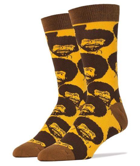 Bob Ross Flash Mob (Men'S Crew Socks Size 10-13)